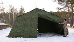 Армейская палатка БЕРЕГ-15М1 4х6.8 м. (однослойная)