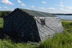 Армейская палатка БЕРЕГ-30М1 6.75м*6.0 м. (ОДНОСЛОЙНАЯ)