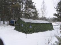 Армейская палатка БЕРЕГ- 40М2 6х11,3. Каркас сталь (ДВУХСЛОЙНАЯ)