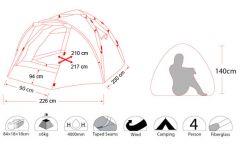 Палатка 4-местная Lux 4 (1 мин.)
